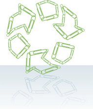 Recycle Symbol Made of Paper Clips