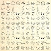 Nautical icons set.