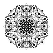 Mandala. ethnic, religious design element with a circular pattern. tattoo