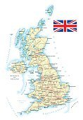 United Kingdom - detailed map - illustration