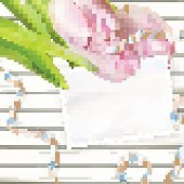 Paper card with tulips. EPS 10