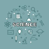 science minimal outline icons