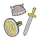 cartoon medieval warrior objects