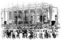 Queuing on Shilling Day, The Great Exhibition (Illustrated Londo