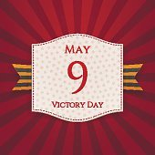 Victory Day white Label with st. George Ribbon