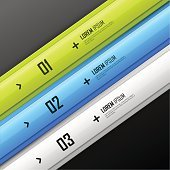 Bright vector infographic template