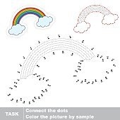 Rainbow. Vector numbers game