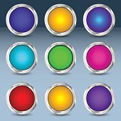 Colorful set of circle buttons