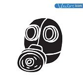 Gas mask icon, vector illustration.