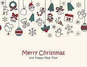 Merry christmas & happy new year background,card print , seamle