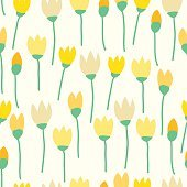 Flower seamles pattern background vector