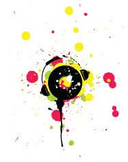 Splashed Headphone With Cd