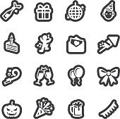 Celebration line icons | EPS10