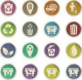 garbage icon set