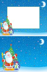 Christmas frame and background