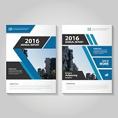 Elegance Blue Vector annual report Leaflet Brochure Flyer template design