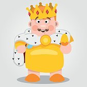 King, fairy tale character, color illustration.