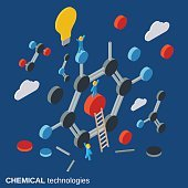Chemical technology vector concept