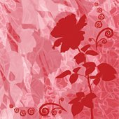 Background with Flower Rose Silhouette