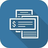 Document Flow Icon. Flat Design.
