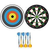 Set darts Icon Picture. darts Icon Image