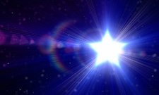 Blue star abstract background