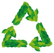 Leaves nature recycling symbol