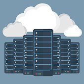 Servers data-center,cloud computing concept