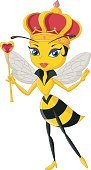 Cartoon queen bee character