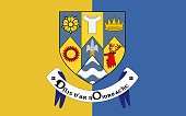 Flag of County Clare is a county in Ireland