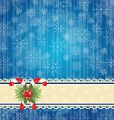 Christmas vintage wallpaper with sweet cane