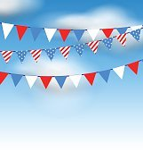 Hanging Bunting Pennants