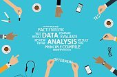 vector data analysis concept,template