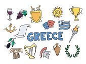 Greece Landmarks and cultural features .