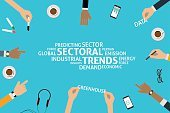 vector sectoral  trends concept,template