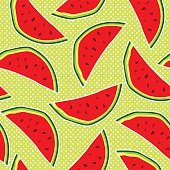 Vector seamless pattern with watermelons backround design