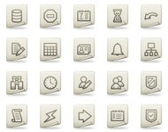 Database web icons, document series
