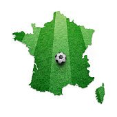 Soccer ball textured France map