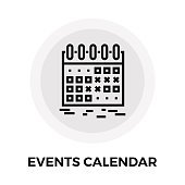 Events Calendar Line Icon