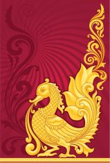 Decorative Scroll Swan