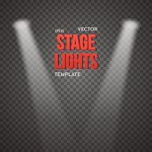 Vector Stage Light Effect. EPS10 Bright Stage Light Illuminating