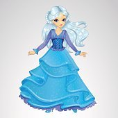 Snow Queen In Blue Dress
