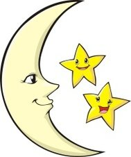 Happy Mother Moon and Children Stars