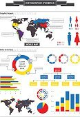 Detailed infographic design elements