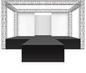 Outdoor festival stage, podium, metal truss system