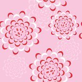 Vector seamless floral pattern with peonies or roses