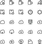 User Interface Line Vector Icons 55