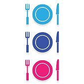 Plate knife and fork Vector EPS10, Great for any use.