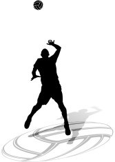 Male Volleyball Silhouette