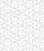 Traditional  Arabic ornament seamless for your design. Vector.  Background. Iznik.